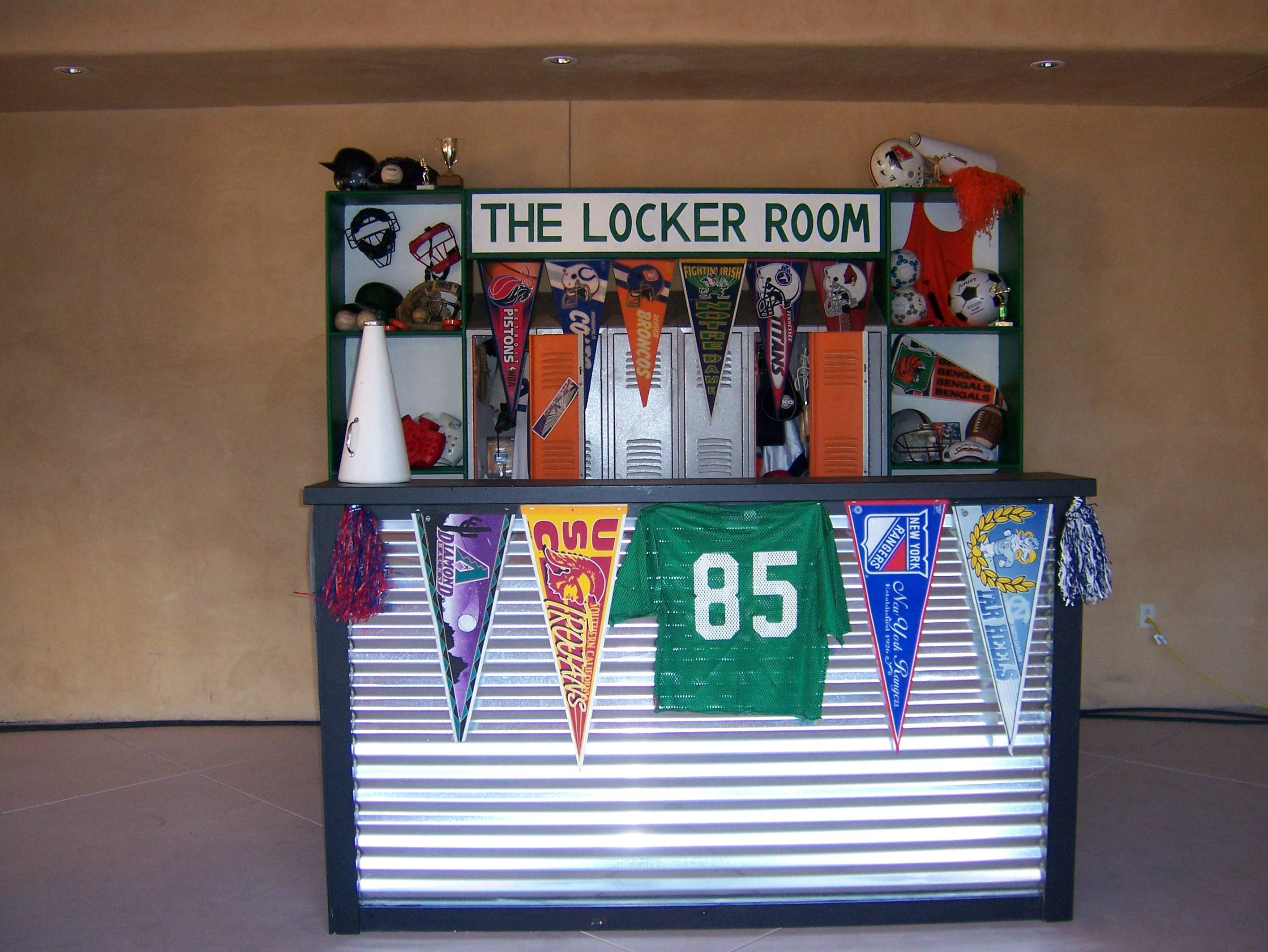 Theme It Out Locker Room Bar